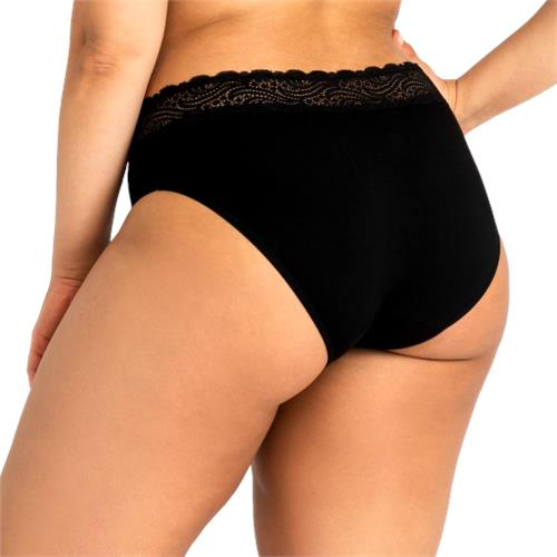 Modibodi – Sensual Hi-Waist Bikini Light-Moderate Absorbency Black