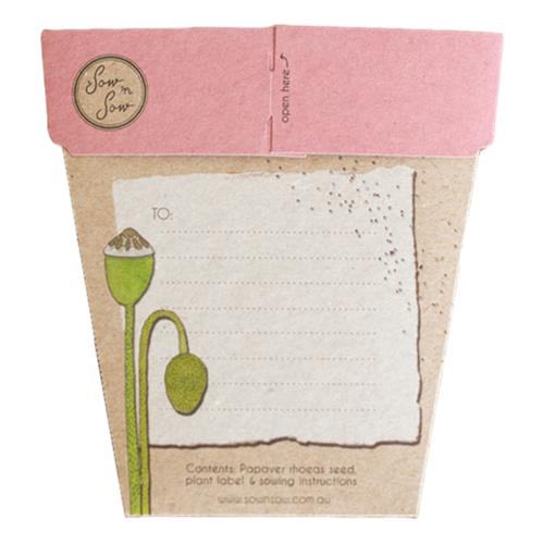 Sow 'N Sow – Gift of Seeds Poppy