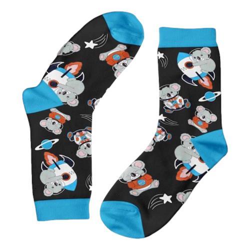 Funky Sock Co – Bamboo Socks Space X Koalas in Space per pair