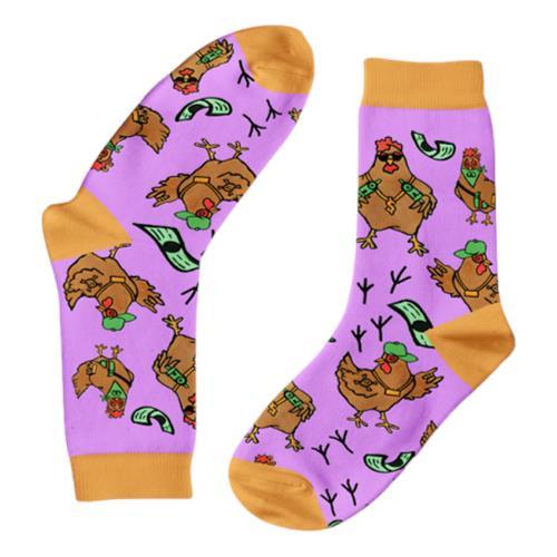 Funky Sock Co – Bamboo Socks Crook 50 Cent Gansta Chickens per pair