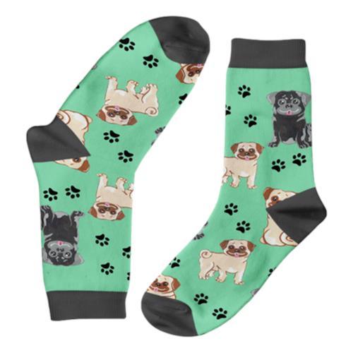 Funky Sock Co – Bamboo Socks Mischevious Pugs per pair