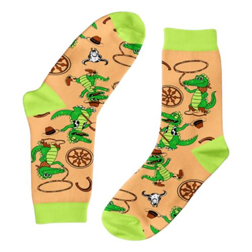 Funky Sock Co – Bamboo Socks Cowboy Crocodiles per pair